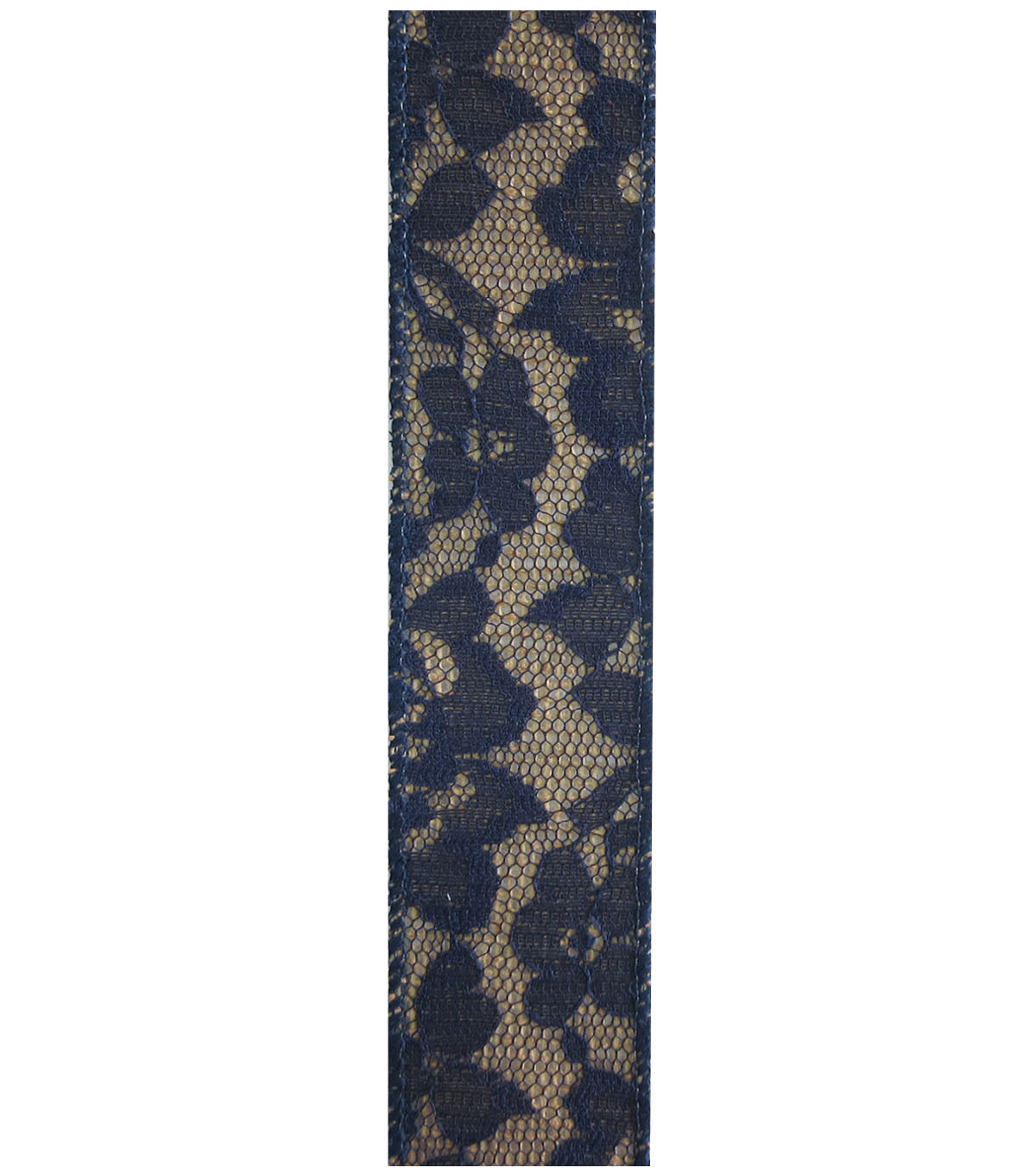 Decorative Ribbon Lace with Burlap1.5\u0027\u0027x9\u0027-Navy