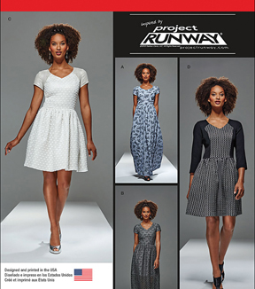 Simplicity Patterns Us8015P5-Simplicity Misses\u0027 And Miss Petite Project Runway Dresses-12-14-16-18-20