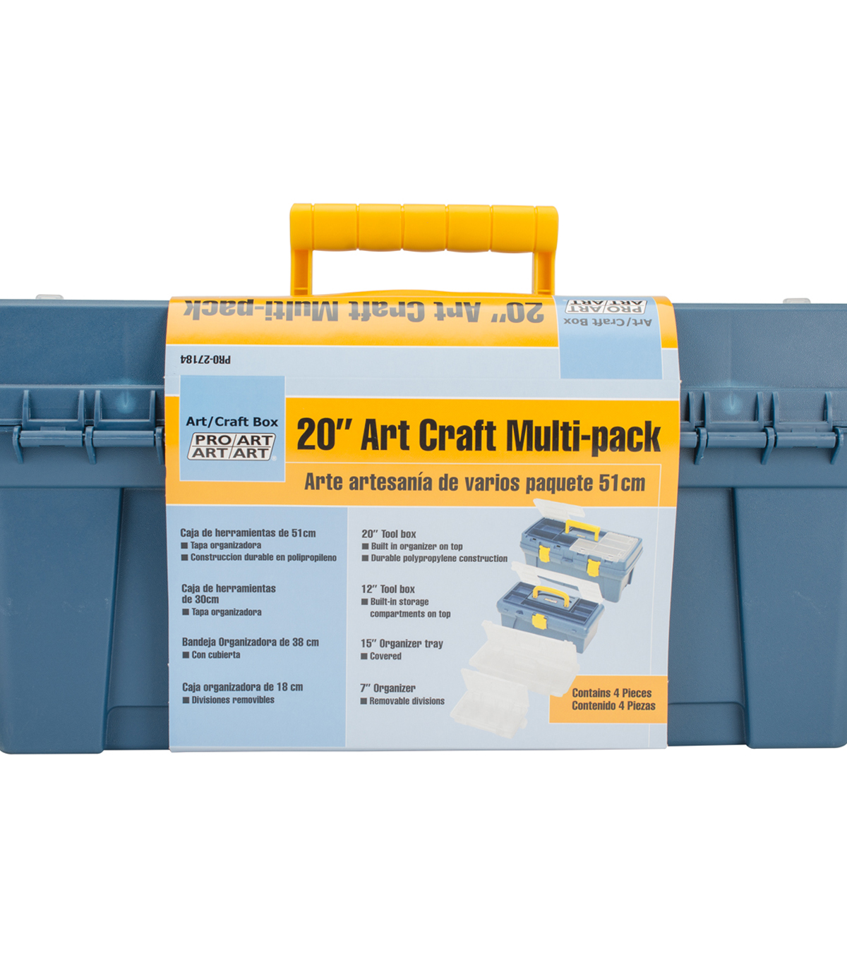 Art Craft Multi-Pack Tool Box 20\u0022-Blue & Yellow