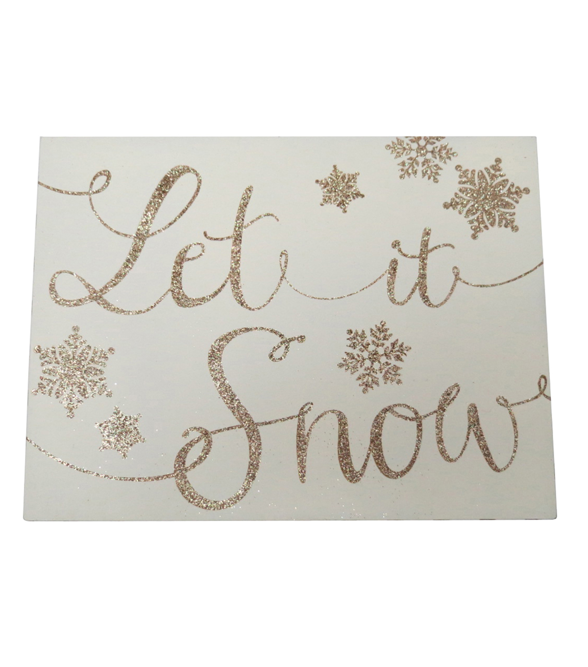 Maker's Holiday Word Block-Let It Snow
