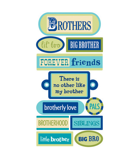 Sandylion Dimensional Stickers-Brothers