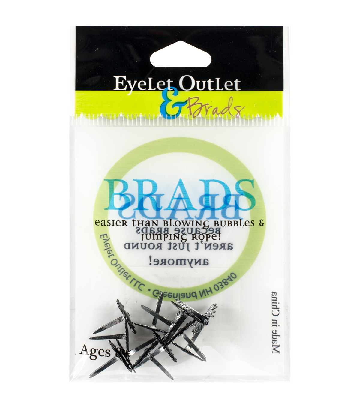 Eyelet Outlet Shape Brads 12/Pkg-Mini Spider
