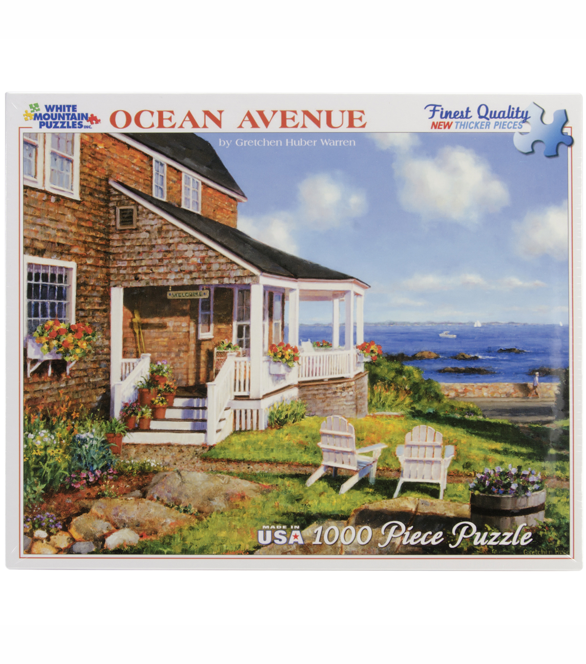 White Mountain Puzzles Jigsaw Puzzle Ocean Avenue