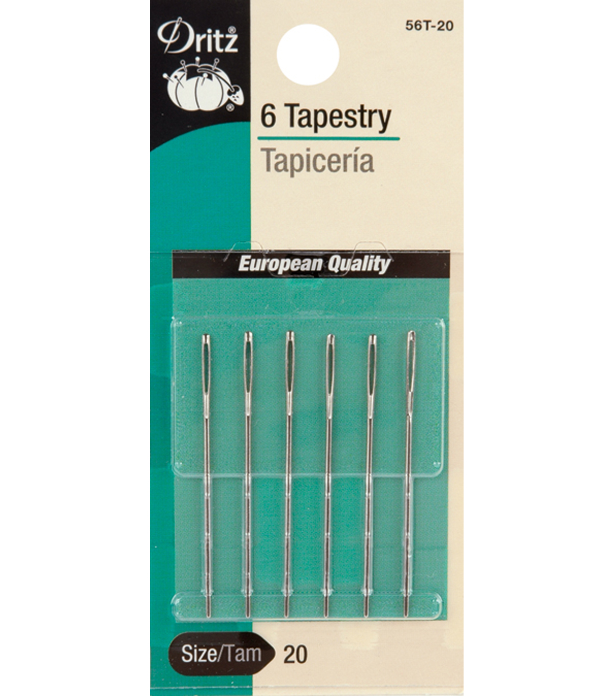 Dritz Tapestry Hand Needles 6pcs Size 24/26