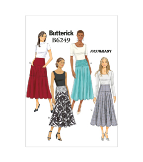 Butterick Misses Skirt-B6249