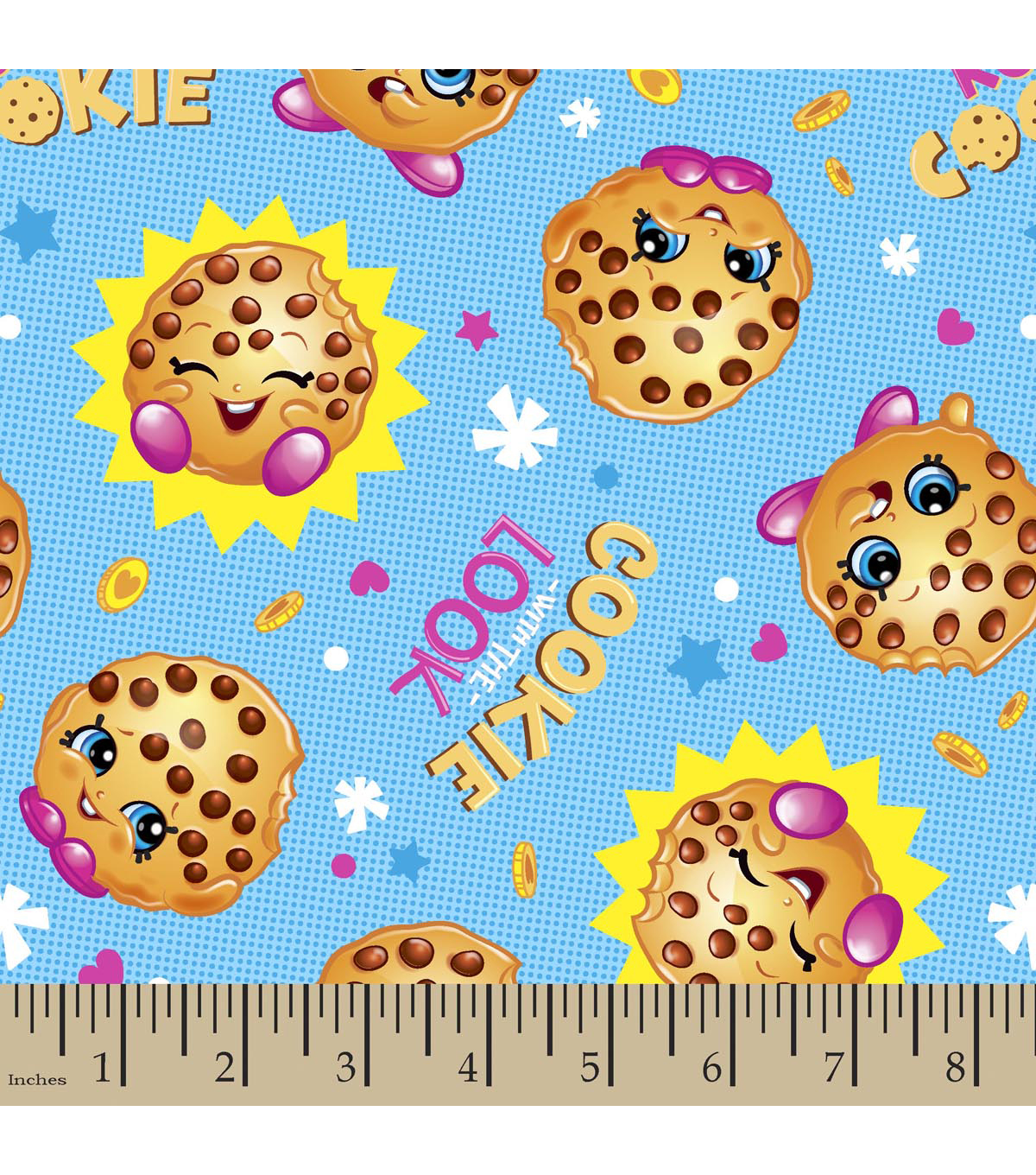 Shopkins Cotton Fabric 43\u0022-Cookie with the Look