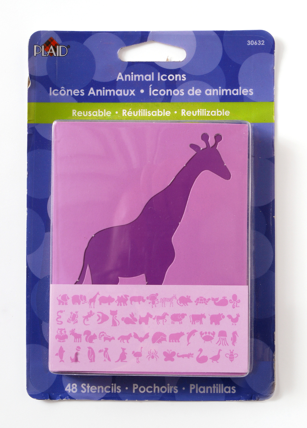 Plaid ® Stencils - Value Packs - Letter Stencils - 3\u0022 Animals Icons