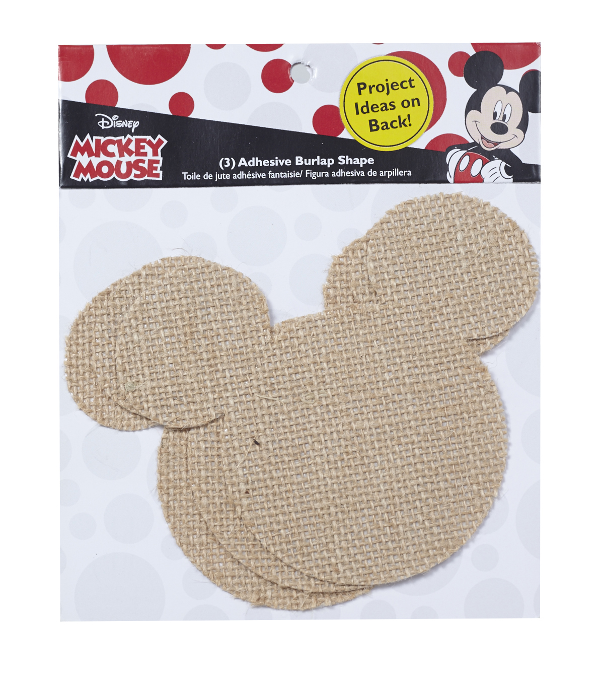 Disney Mickey Mouse Ears Adhesive Burlap Large