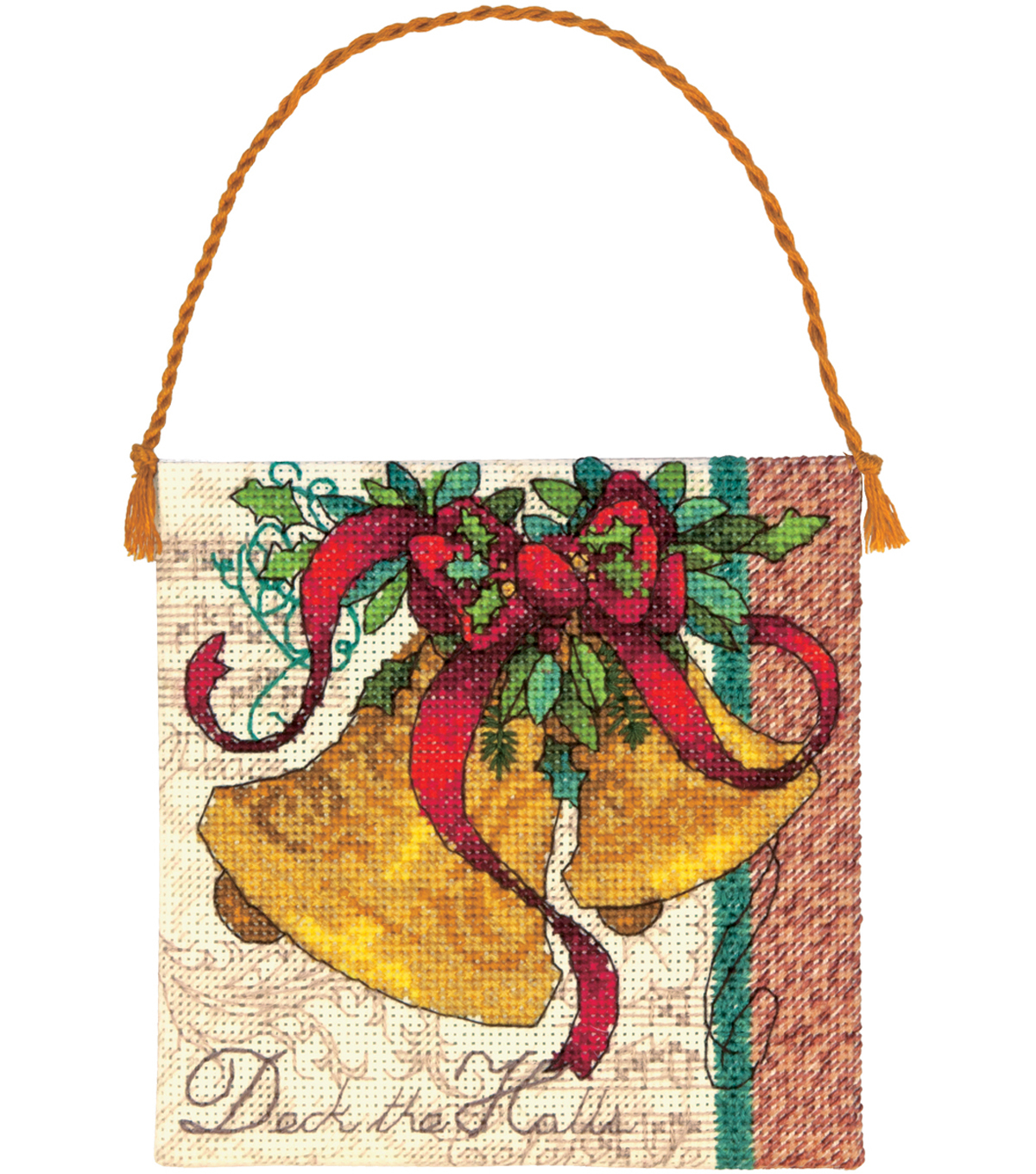 Gold Collection Petites Bells Ornament Counted Cross Stitch-4.25\u0022x4.25\u0022 18 Count