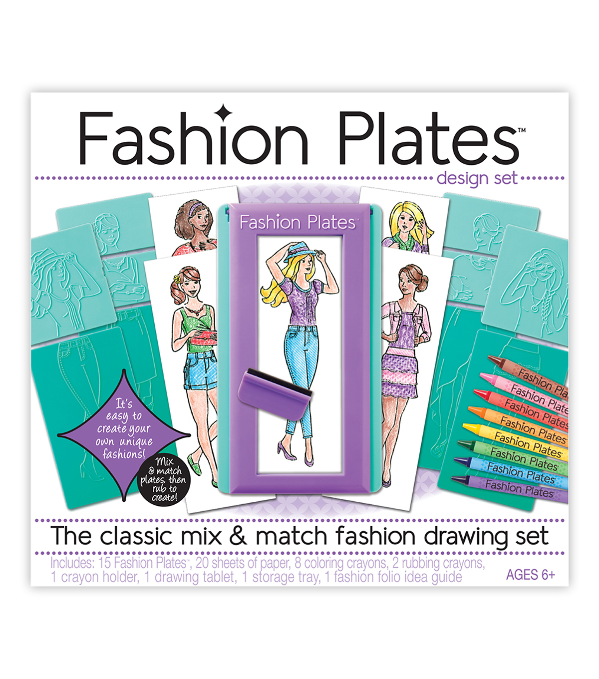 Kahootz Fashion Plates Design Set