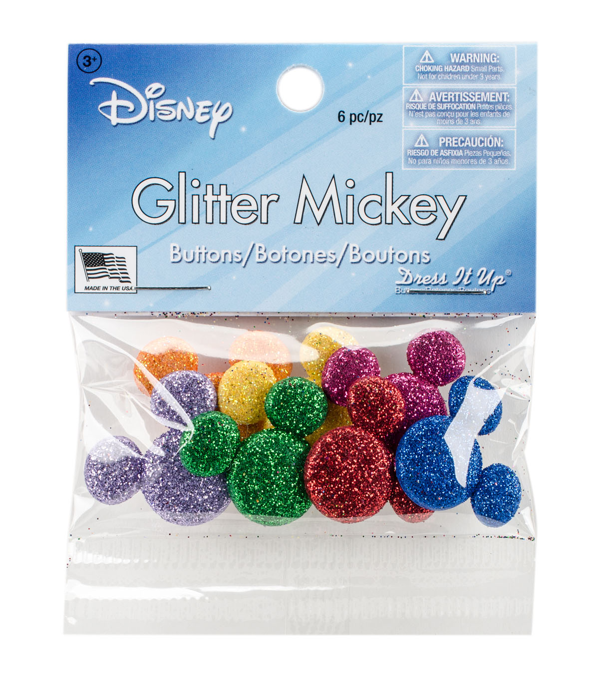 Dress It Up Licensed Embellishments-Glitter Disney Mickey