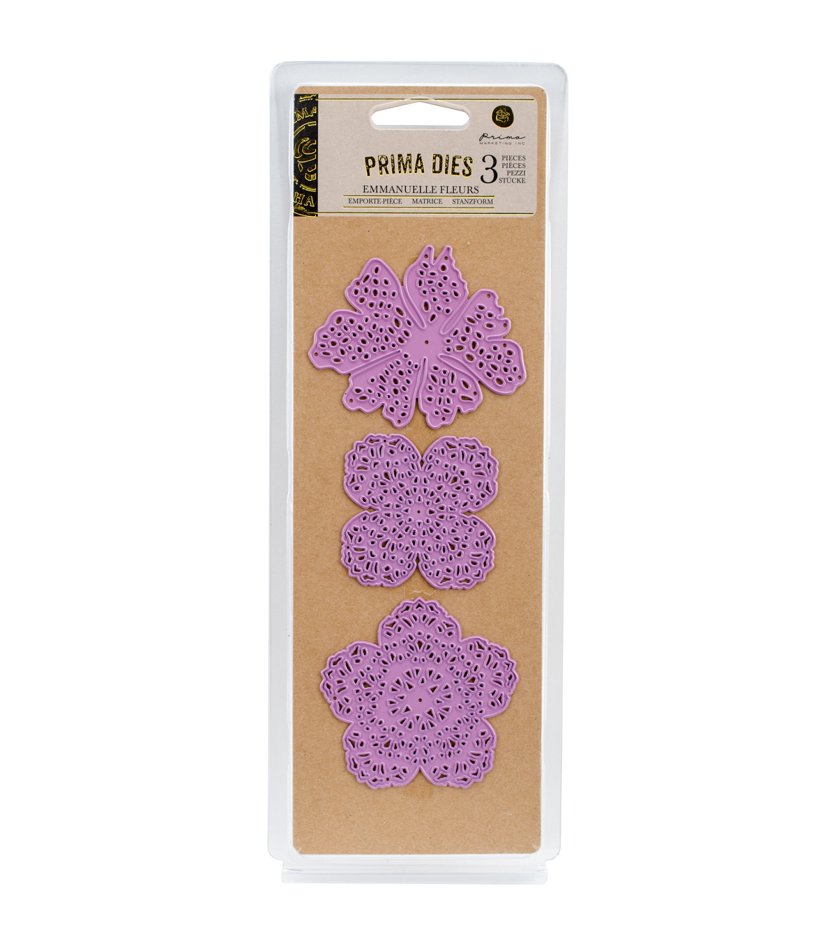 Prima Marketing Purple Metal Die-Emmanuelle Fleurs