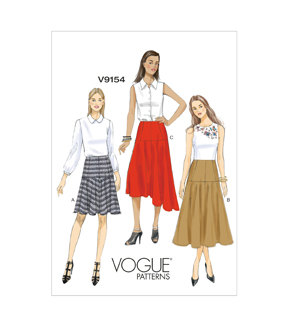 Vogue Patterns Misses Skirt-V9154
