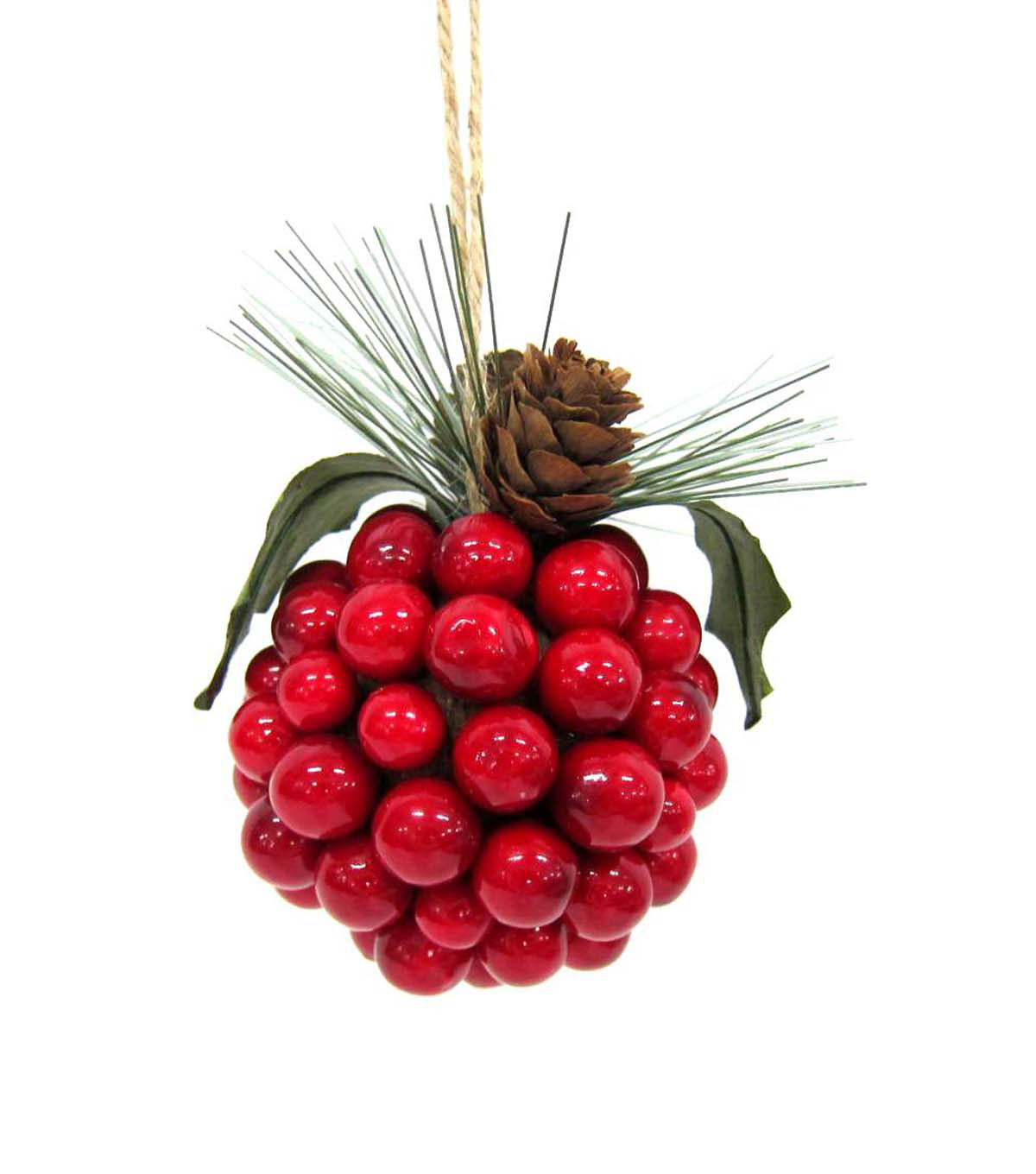 Maker\u0027s Holiday Round Red Berry Ornament