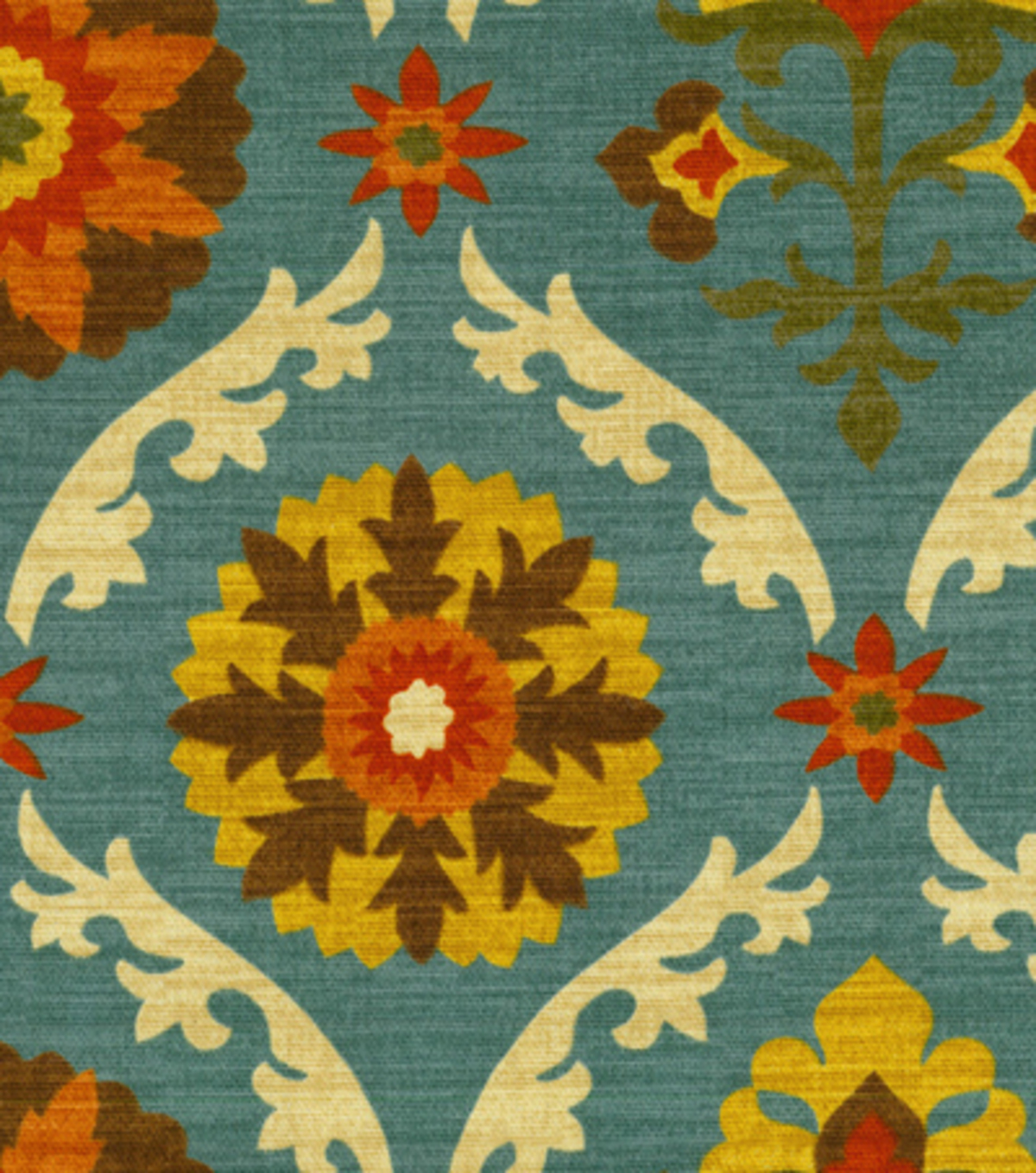 Home Decor 8\u0022x8\u0022 Fabric Swatch-Waverly Mayan Medallion Adobe