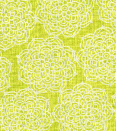 Keepsake Calico™ Cotton Fabric-Pam\u0027s Pineapple Medallion On Lime