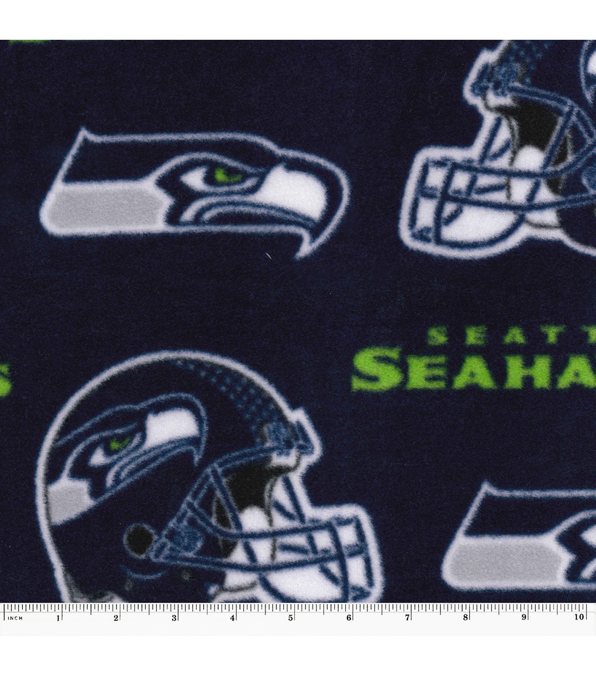 Seattle Seahawks Fleece Fabric 58\u0022-Logo