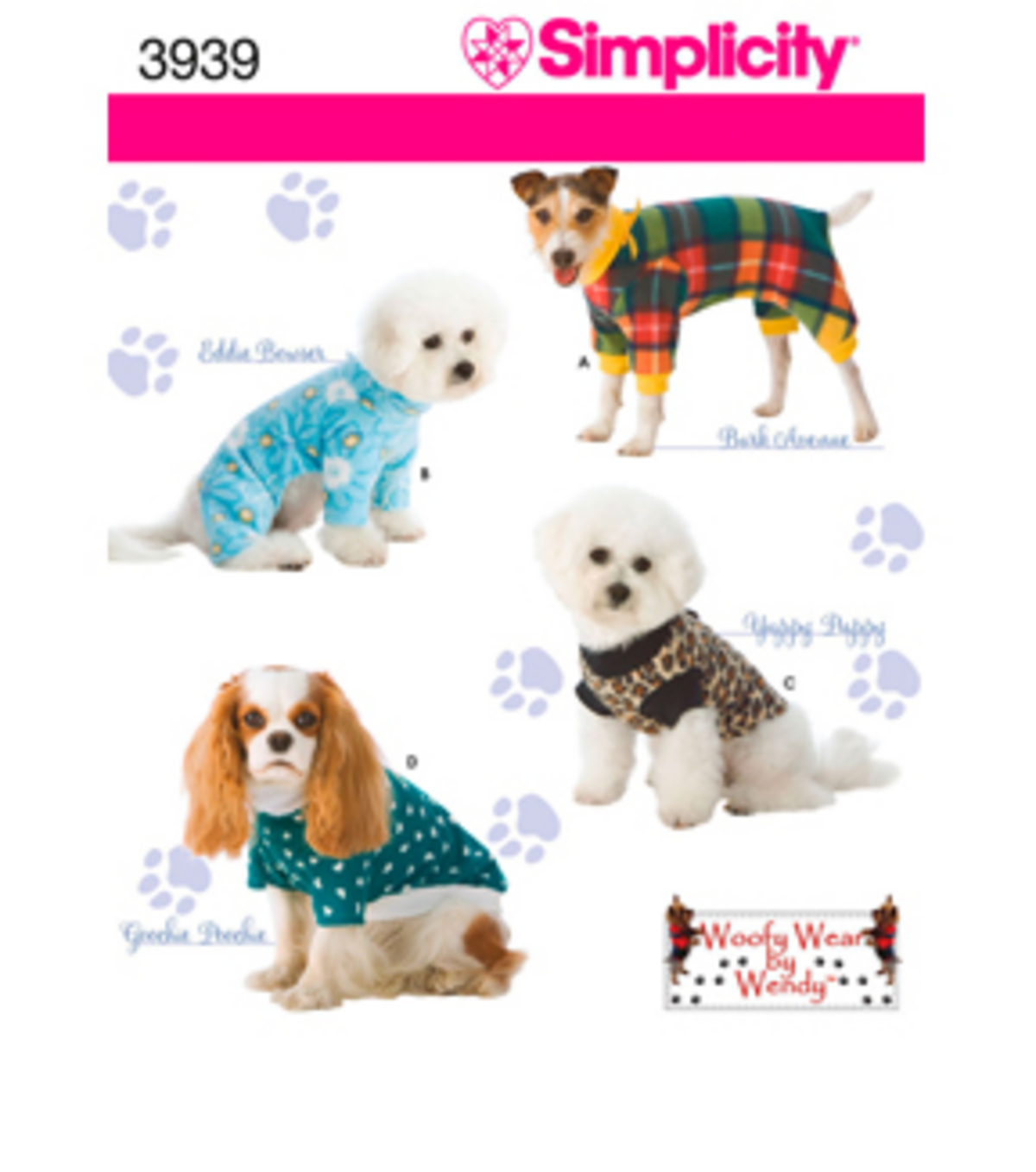 Simplicity pattern 3939 dog clothesin three sz sml joann simplicity pattern 3939a s m l simplicit jeuxipadfo Images