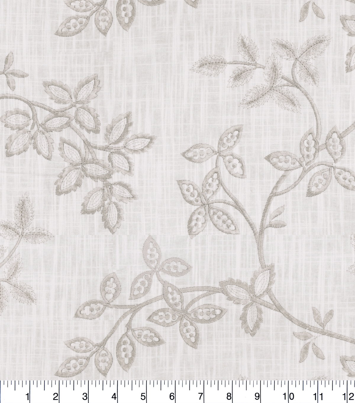 Jaclyn Smith Fabric 52''-Stone Floral Vine