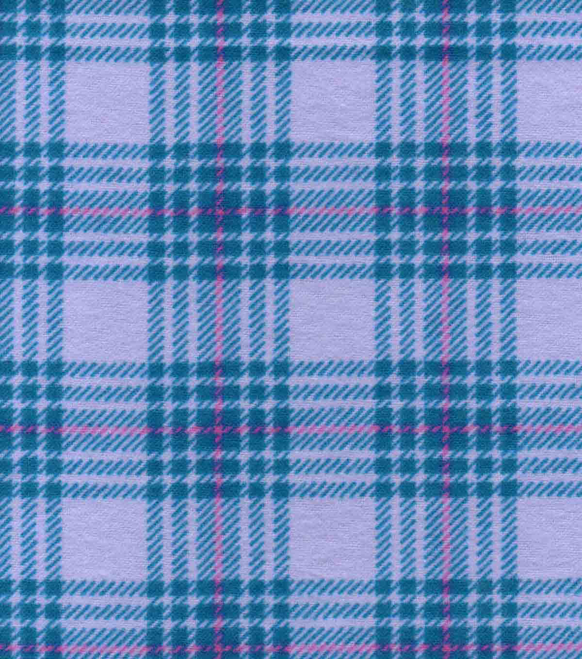 Snuggle Flannel Fabric 42\u0022-Hadley Plaid Lilac
