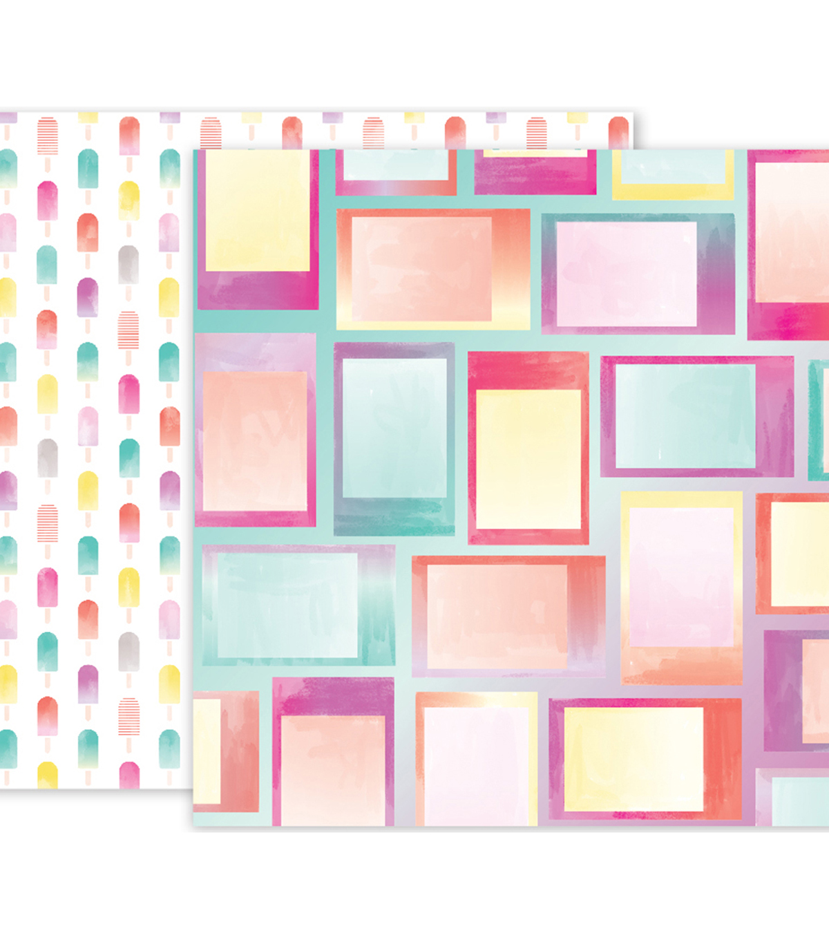 "Pink Paislee Summer Lights Double-Sided Cardstock 12""X12""-#07"