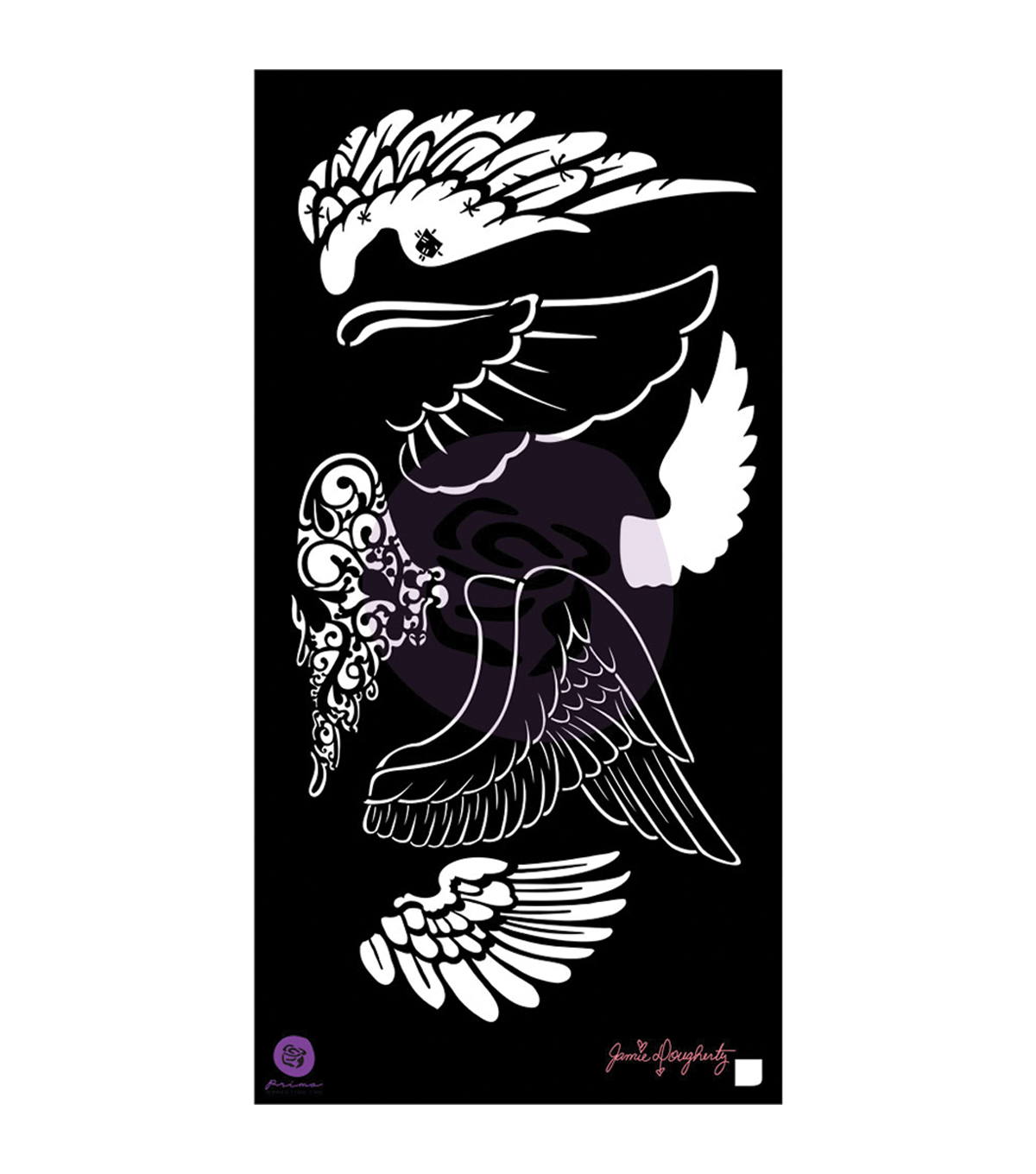 Prima Marketing Jamie Doughtery Bloom Wings Stencil