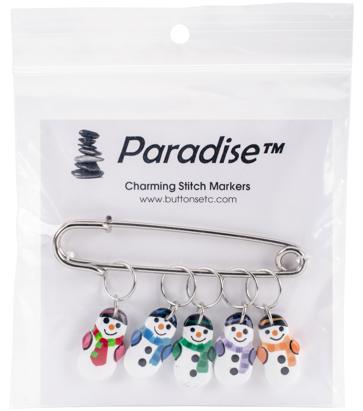 Snowman Stitch Markers 5 Pack