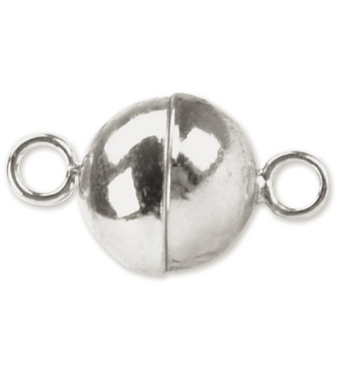 Beadalon 6mm Magnetic Clasps-Round 2 SETS/Silver Plated