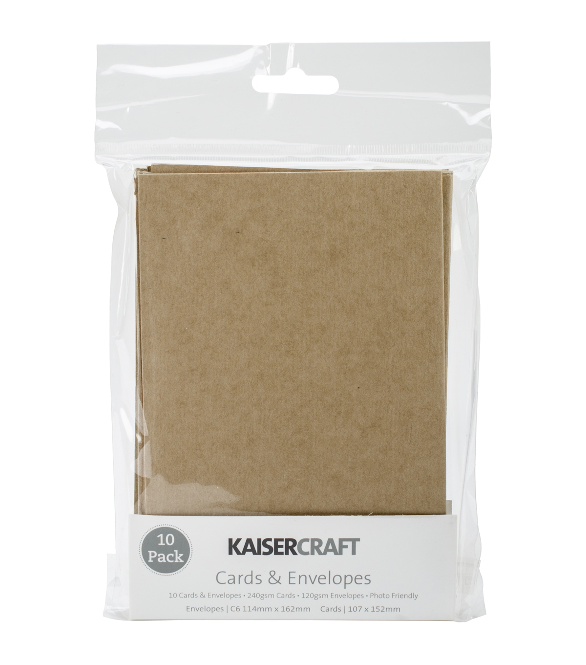 Kaisercraft C6 Cards & Envelopes 4.5\u0022X6.25\u0022 10/Pkg