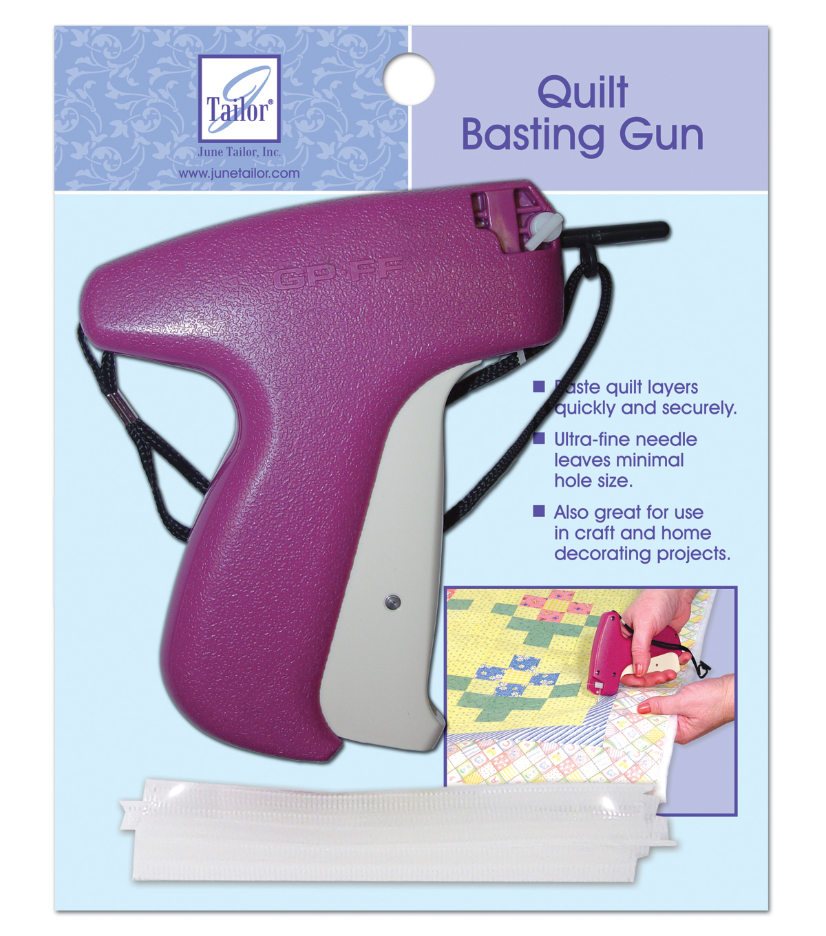 June Tailor Quilter's Basting Gun with 500 Fasteners | JOANN : quilt tacking - Adamdwight.com