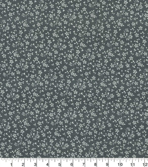 "Quilter's Showcase™ Cotton Quilt Fabric 44""-Flowers Gray"