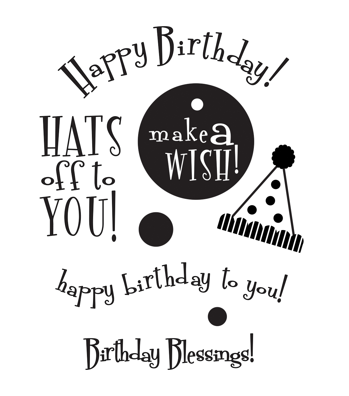 My Sentiments Exactly Clear Stamps 3\u0022X4\u0022 Sheet-Birthday