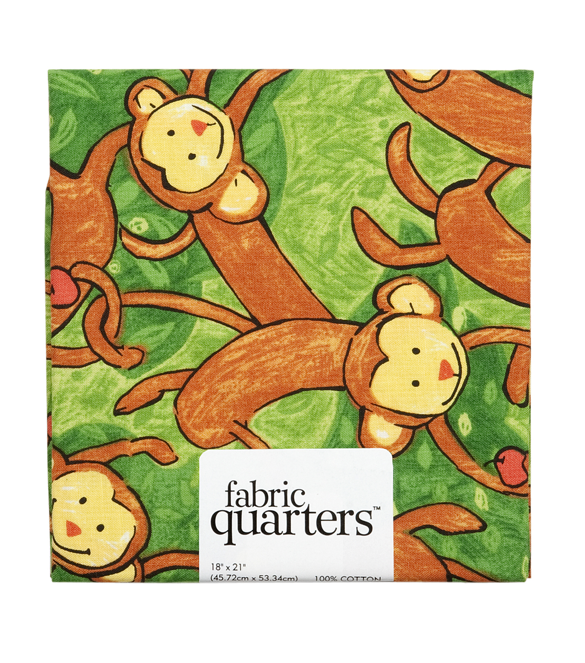 Fabric-Quarters Assorted Fabric-Monkey