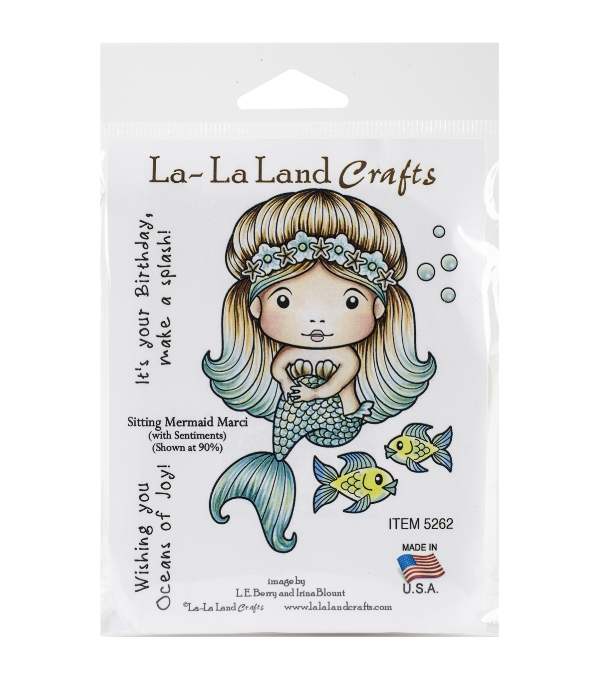 La-La Land Crafts Cling Stamps-Sitting Mermaid Marci