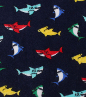 Anti-Pill Fleece Fabric 59\u0022-Multi Color Sharks