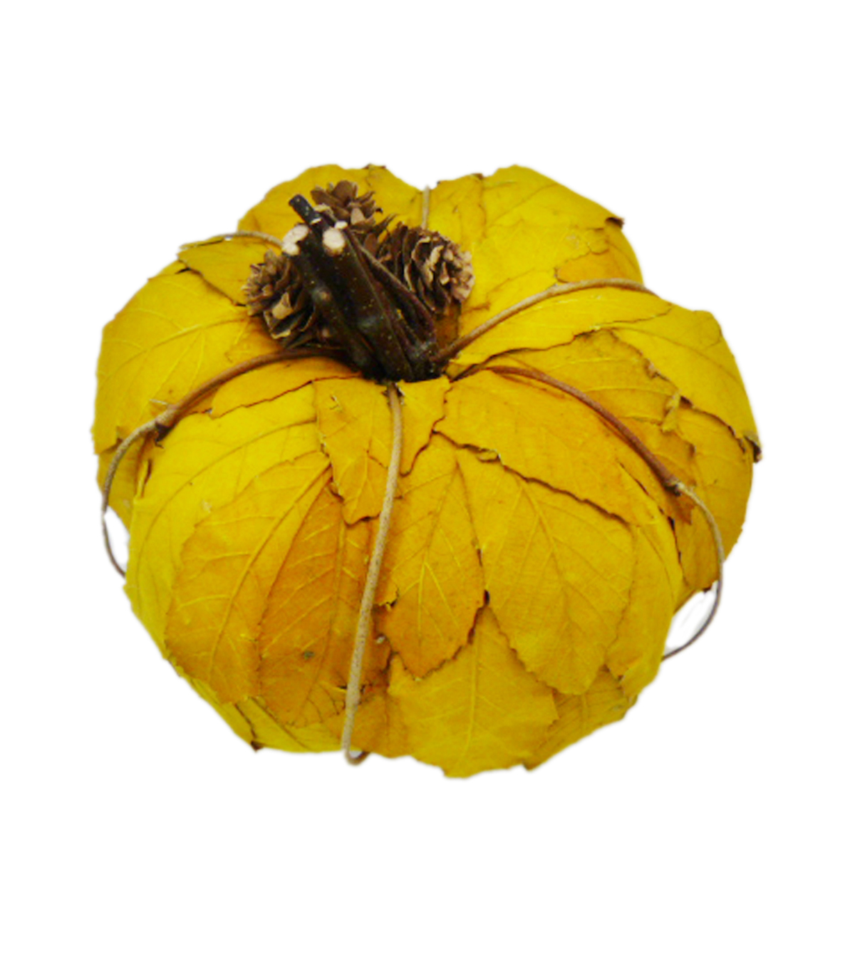 Blooming Autumn Large Leaf Pumpkin-Yellow