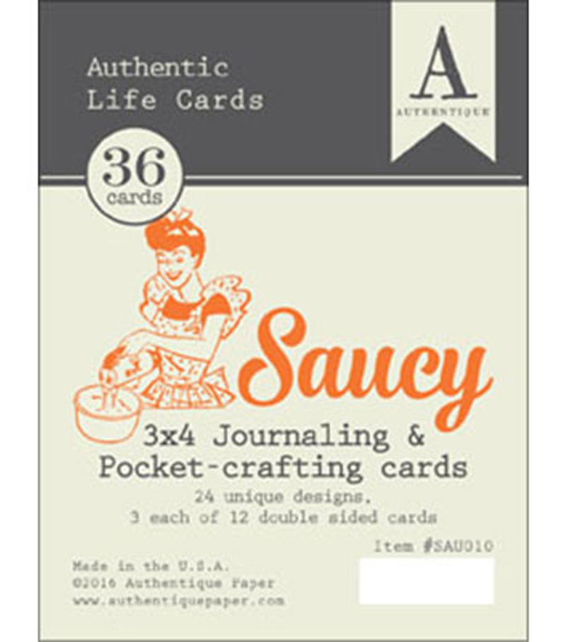 Saucy Authentic Life Cards-3\u0022X4\u0022 Pocket Crafting & Journaling Cards