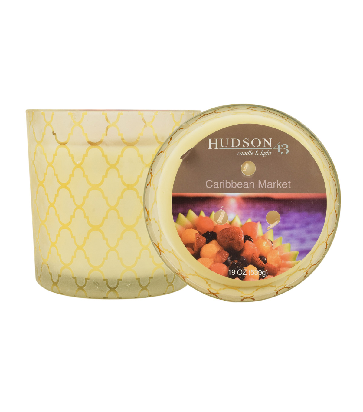 Hudson 43™ Candle & Light Collection 19oz Patterned Glass Caribbean Market