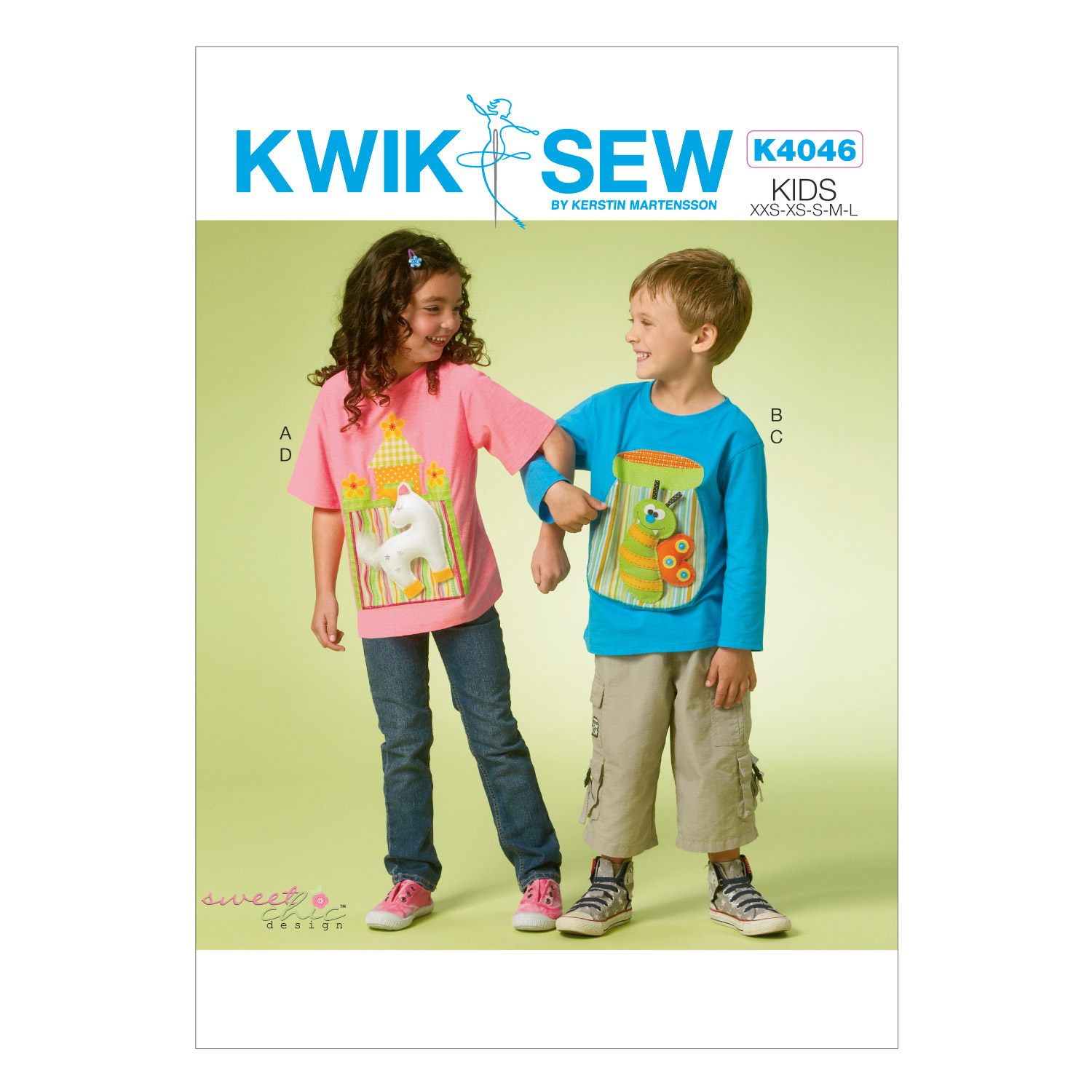 Kwik Sew Pattern K4046 Children\u0027s Tops