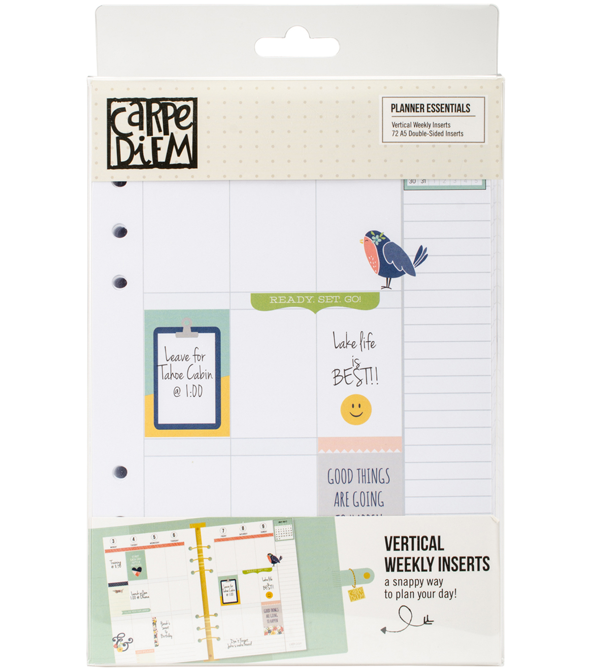 Planner Essentials Double-Sided A5 Inserts-Weekly Vertical
