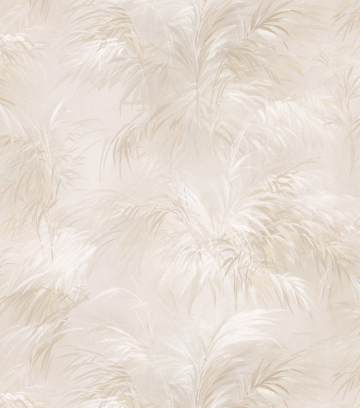 Palm Fern Beige Textures Pattern Wallpaper Sample