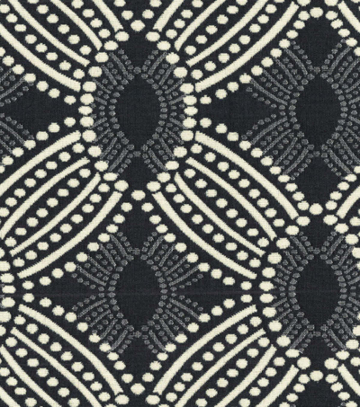 "Home Decor 8""x8"" Fabric Swatch-HGTV HOME Time Zone Onyx"