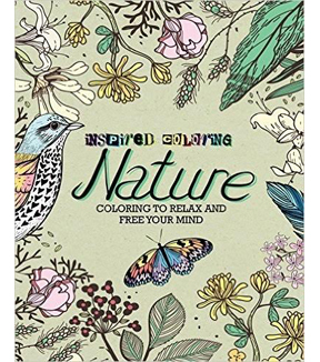 Adult Coloring Book Inspired Nature