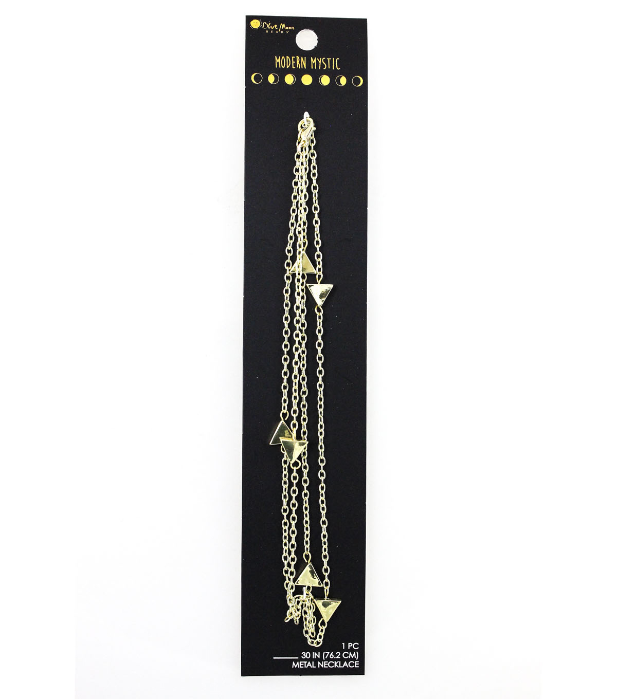 Blue Moon Beads® Modern Mystic Long Necklace with Triangles-Gold