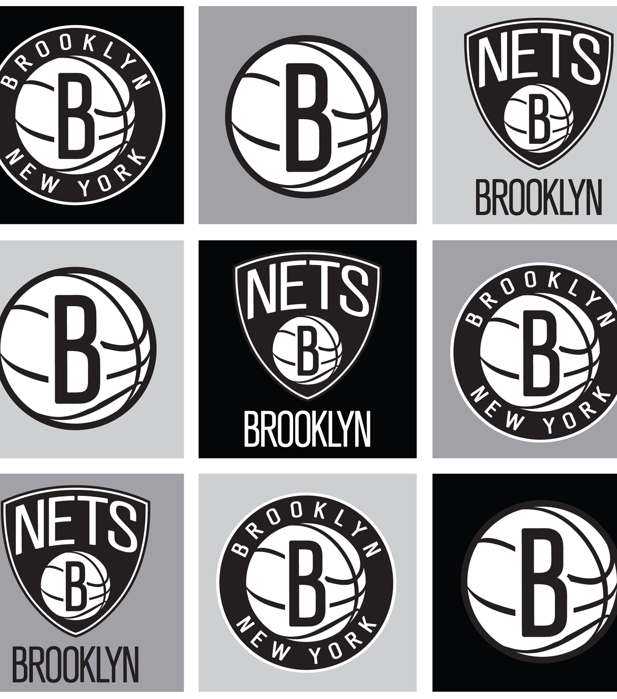 "Brooklyn Nets Fleece Fabric 58""-Block"