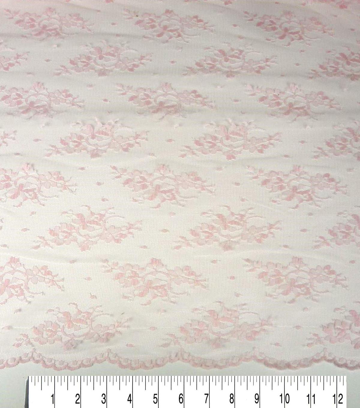Casa Collection™ Lace Fabric 54\u0022-Chantilly Rosewater