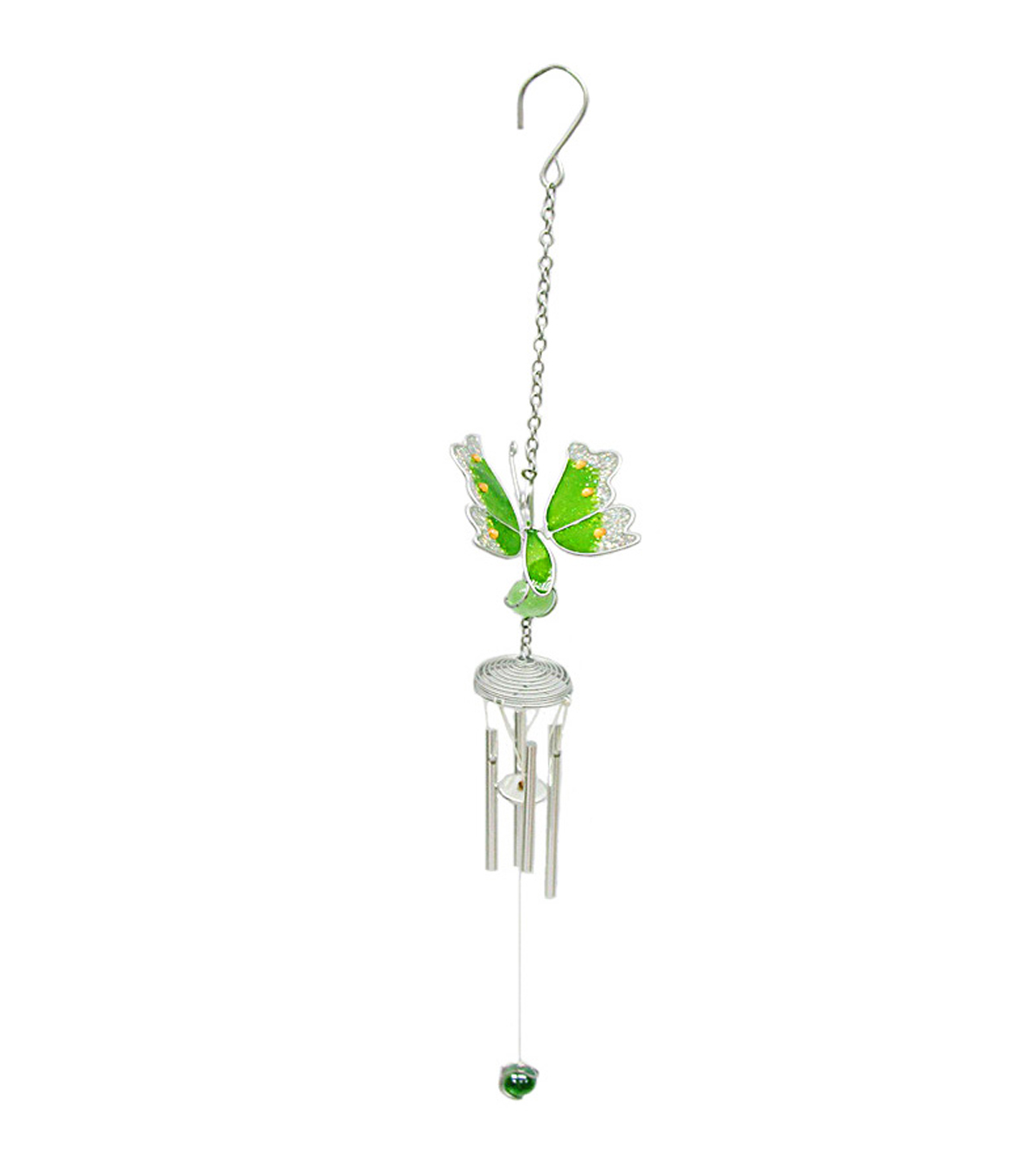 Wild Blooms Mini Wind Chime-Green Butterfly
