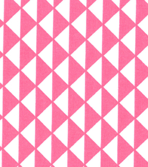 "Quilter's Showcase™ Cotton Fabric 44""-Triangles Pink/White"