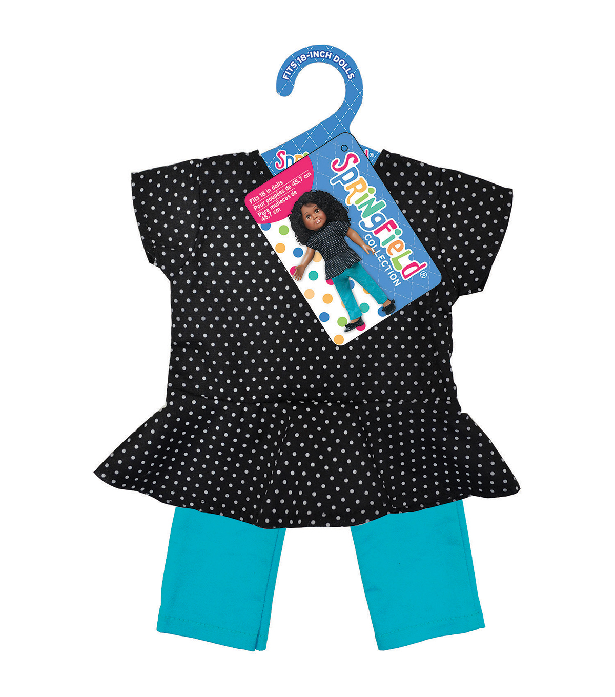 Springfield Boutique Peplum Polka Dot Top And Teal Pants