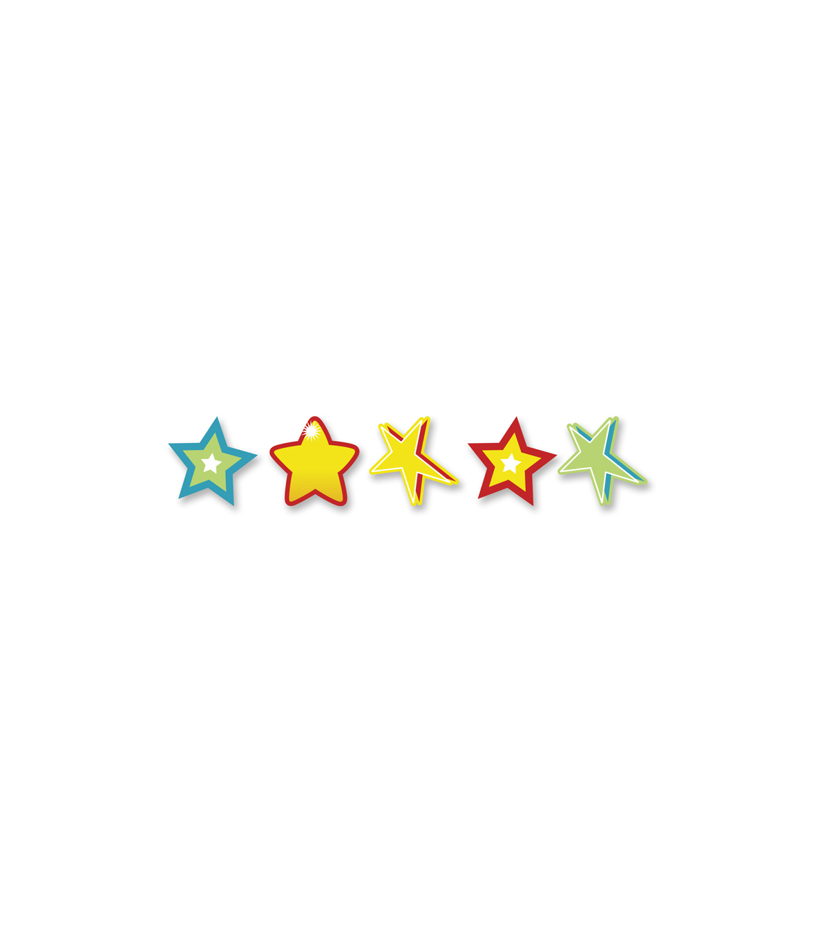 Busy Kids Learning Small Sticker Packs-Stars/Brites